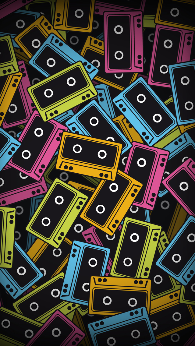 Audio tapes iPhone wallpaper