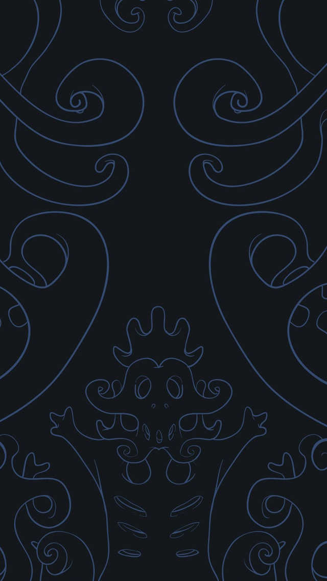 Dark vector art iPhone wallpaper