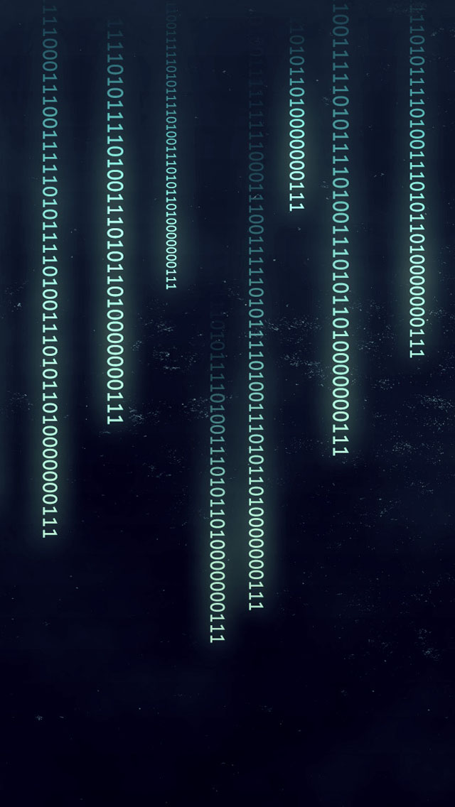Binary data iPhone wallpaper
