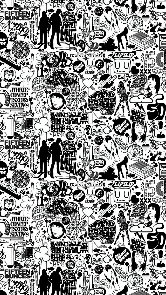 Comics Black And White iPhone wallpaper
