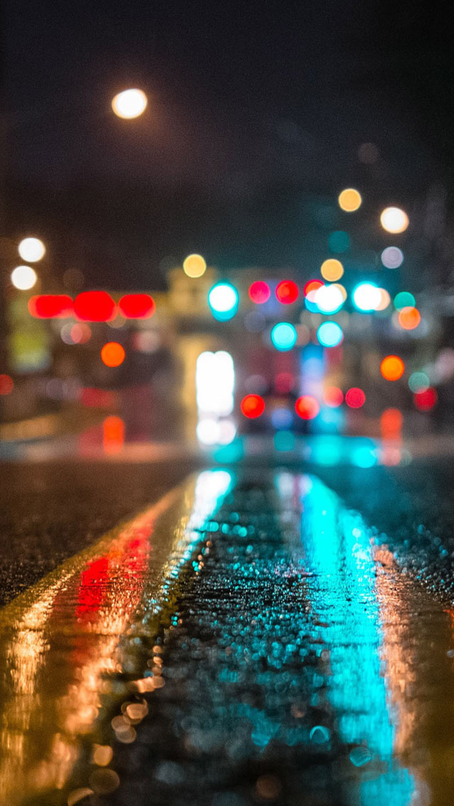 Light on road iPhone wallpaper