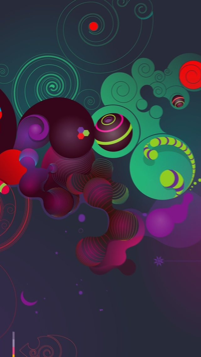 Colourful Abstract 3d Background Iphone Wallpapers Free Download