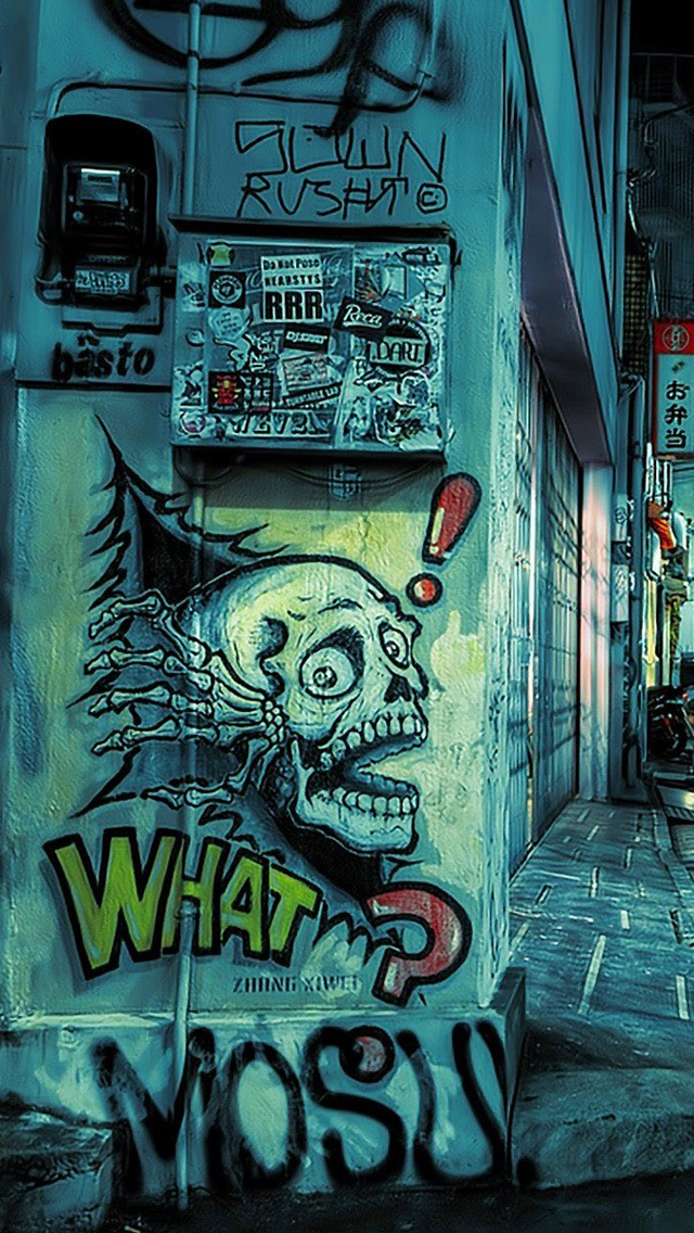 Graffiti street iPhone wallpaper