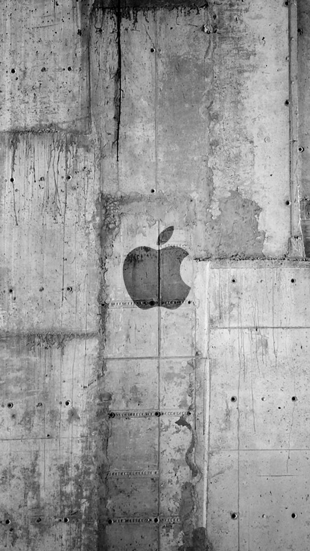 Apple Logo Concrete Wall iPhone wallpaper