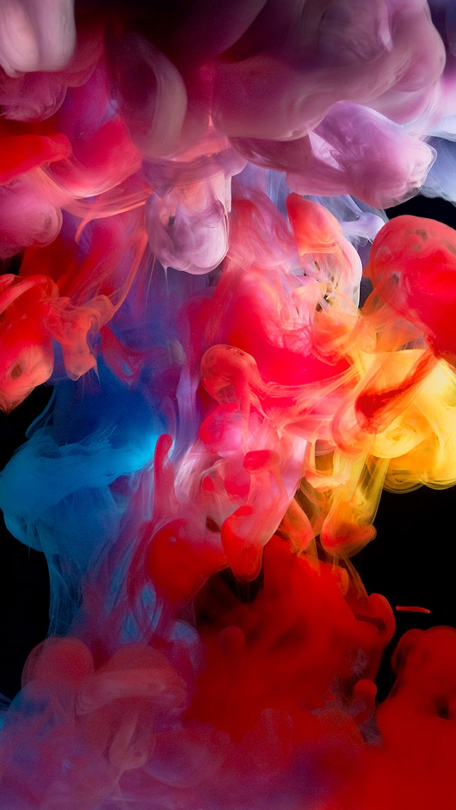 Colored Smoke Paint iPhone wallpaper