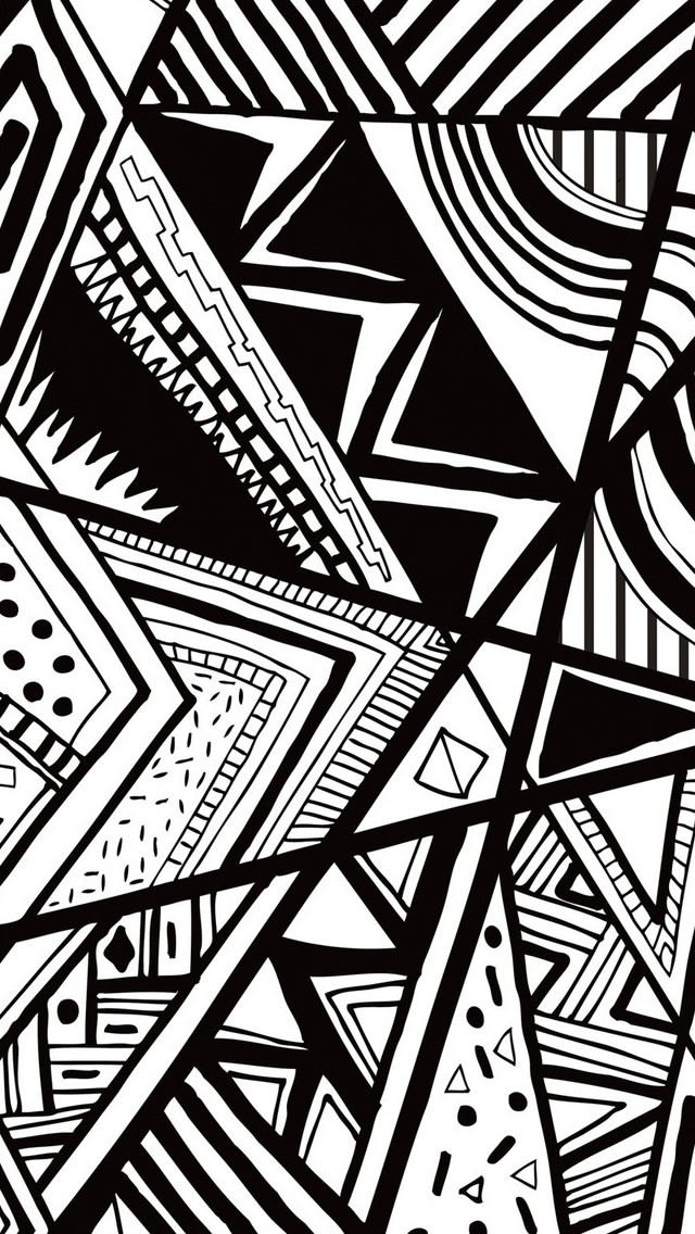 Black And White Doodle Iphone Wallpapers Free Download