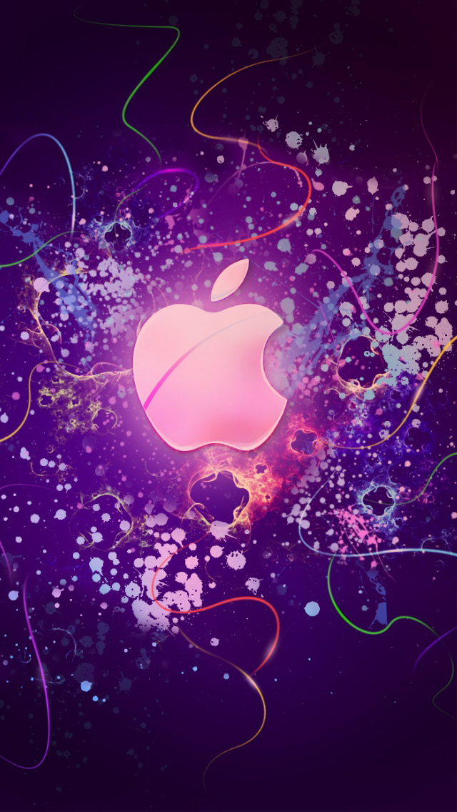 Abstract apple iPhone wallpaper