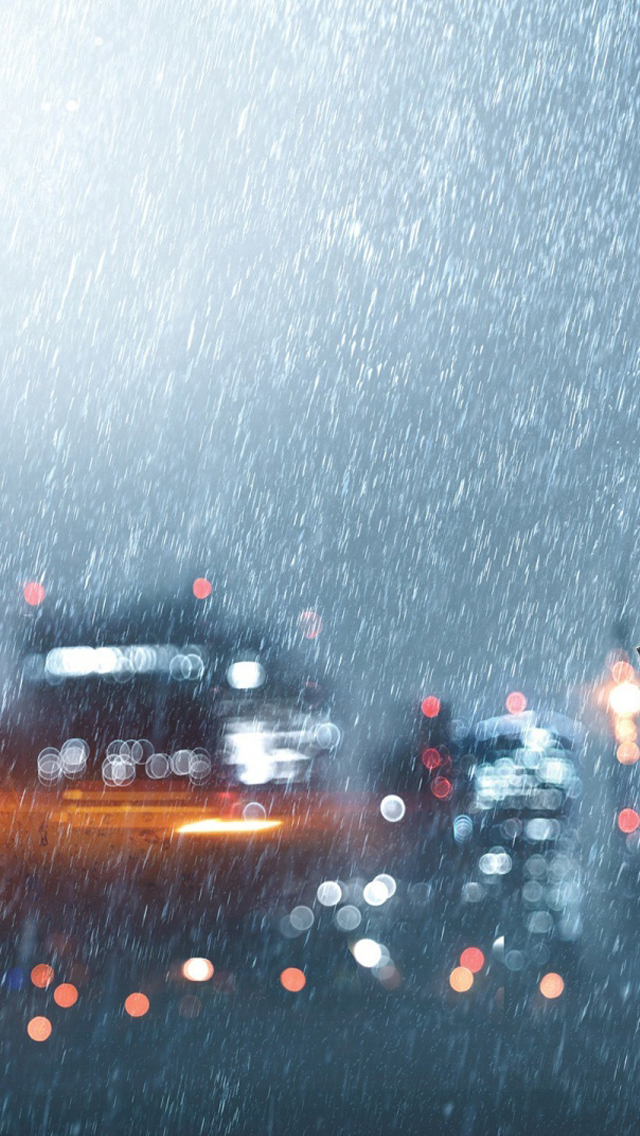 Heavy downpour iPhone wallpaper