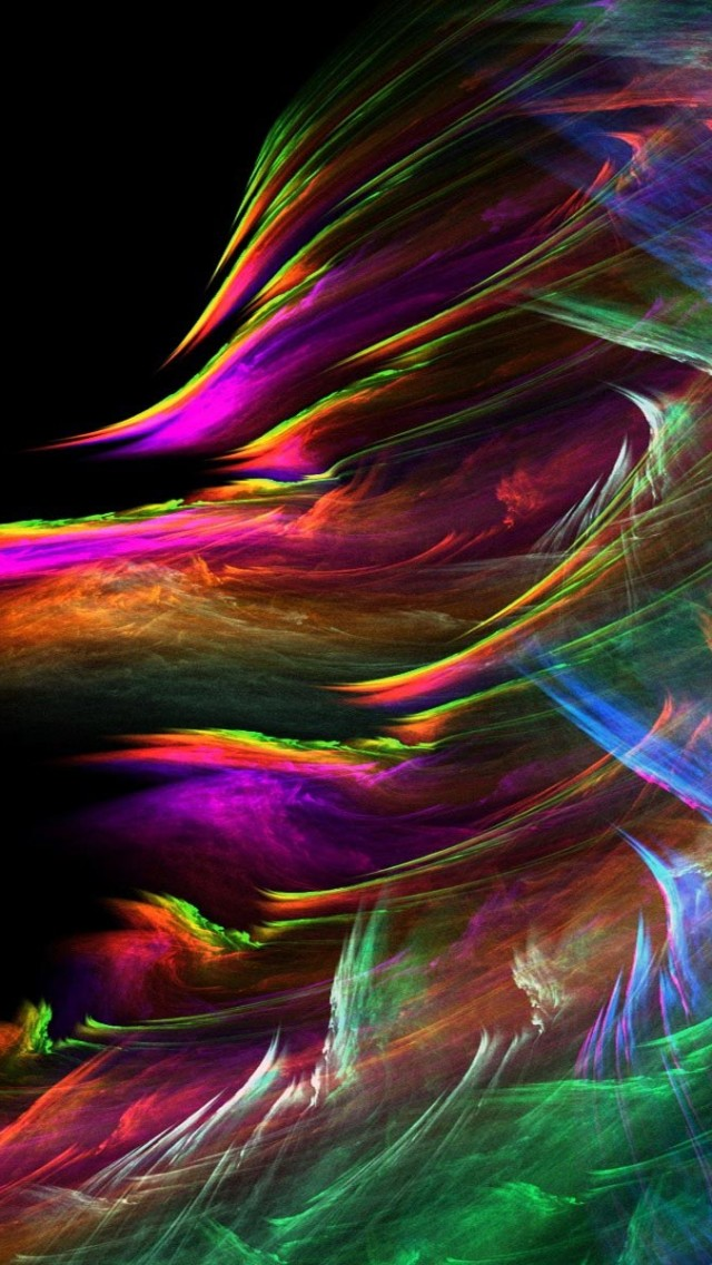 Windstorm Fractal iPhone wallpaper