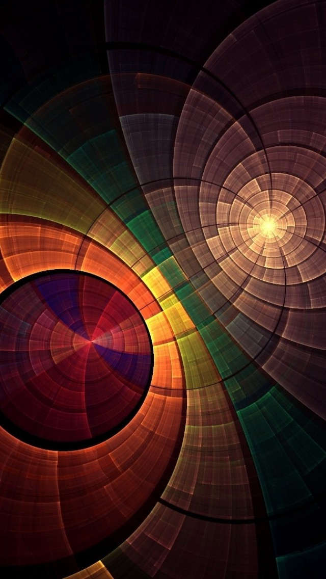 Abstract Circle Overlapping iPhone wallpaper