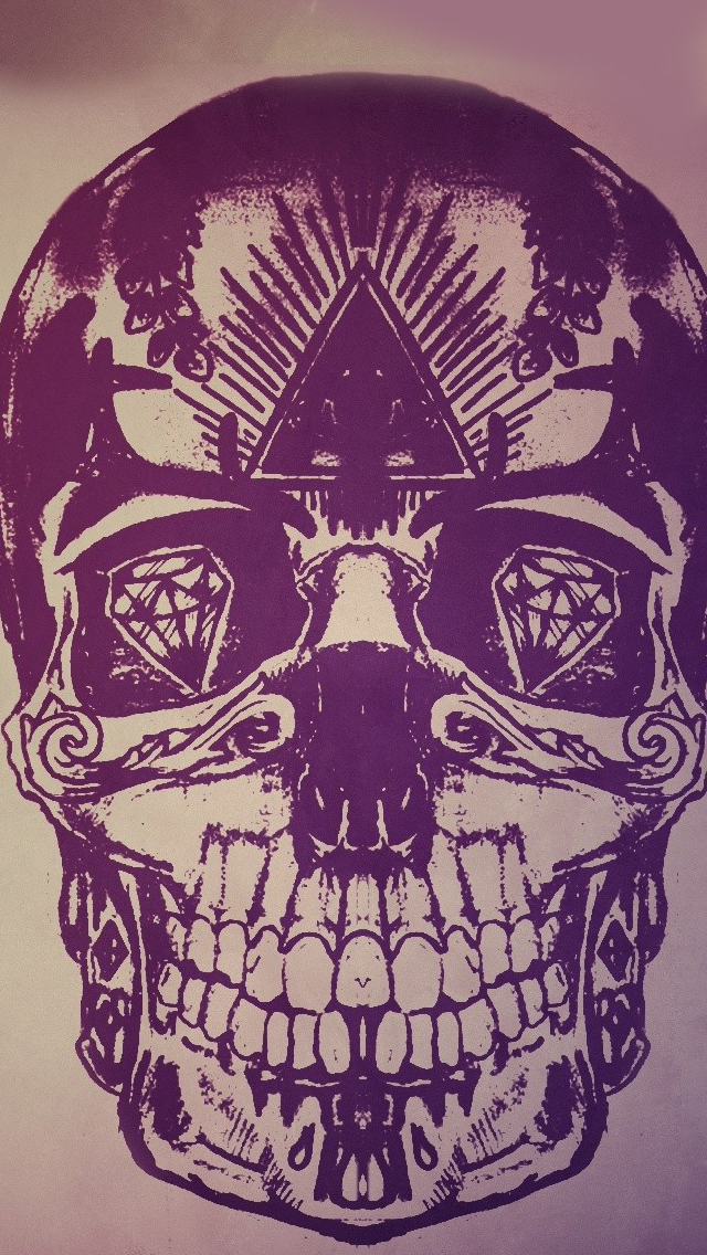 Skulls artwork iPhone wallpaper