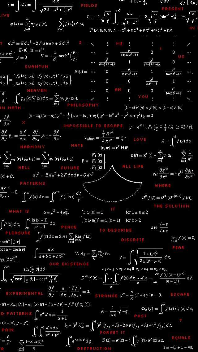 Mathematics iPhone wallpaper