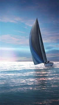 Sailing Boat HD iPhone 5s wallpaper