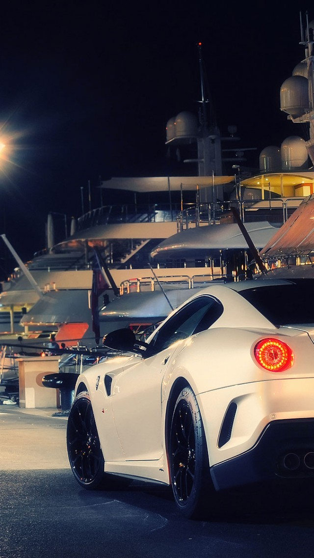 Ferrari 599 Gto White Night Iphone Wallpapers Free Download
