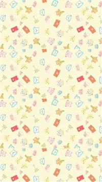 Cute cartoon background iPhone 5s wallpaper