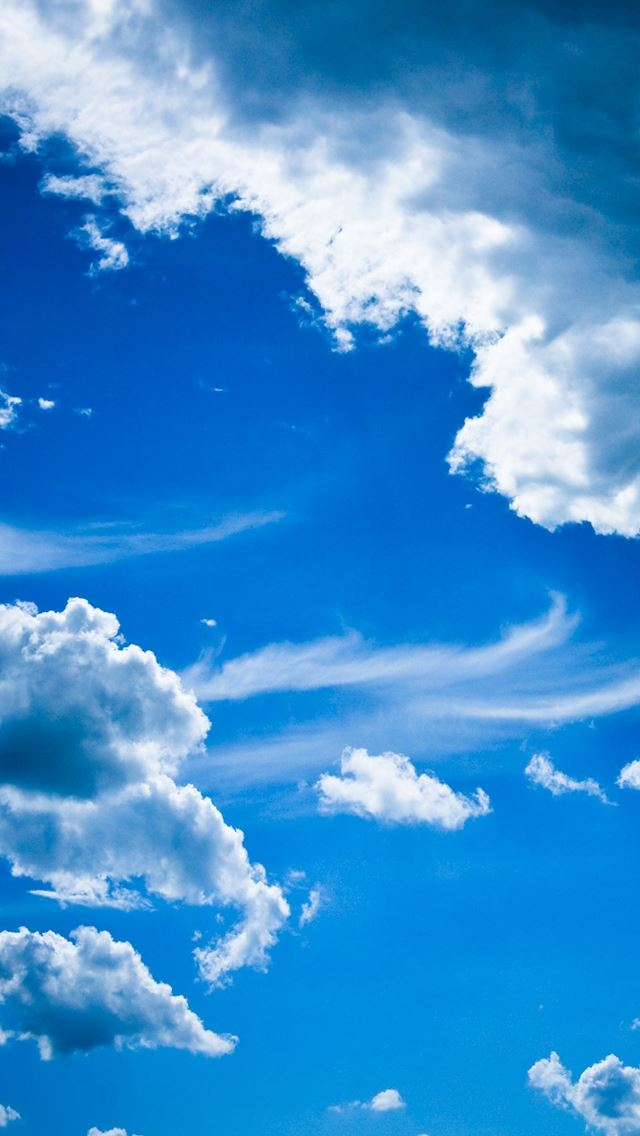 Blue Clouds Iphone Wallpapers Free Download