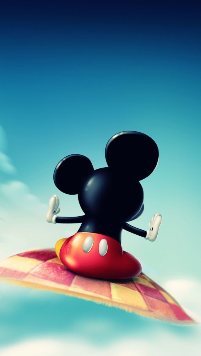 Mickey Mouse Flying iPhone wallpaper