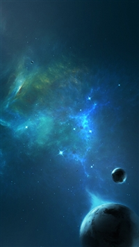 Outer space planets iPhone 5s wallpaper