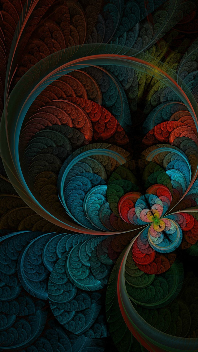 Abstract Feather iPhone wallpaper