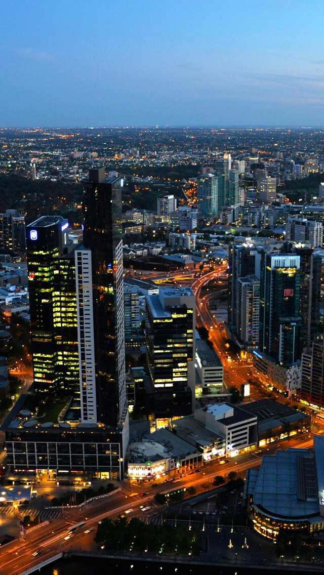 Australia melbourne cityscapes iPhone wallpaper
