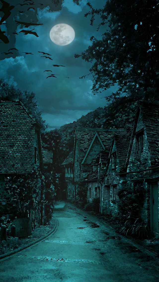 The dark village iPhone wallpaper