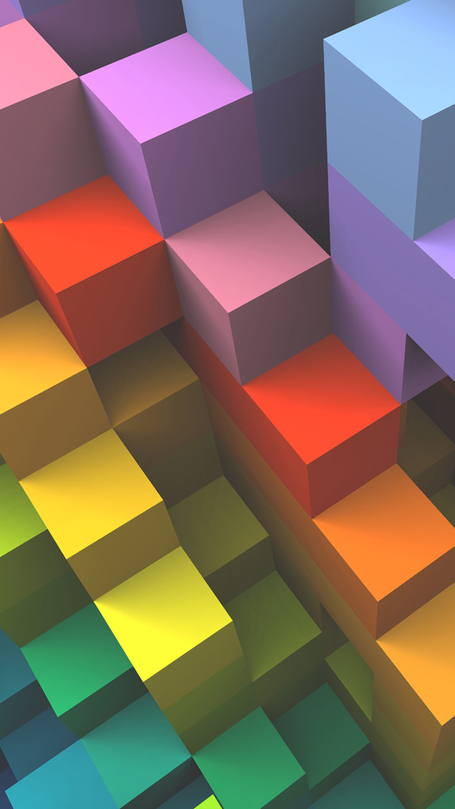 3D Color stairs iPhone wallpaper