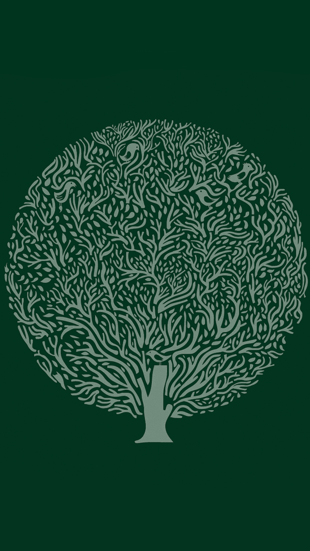 Minimalist simple background trees iPhone wallpaper