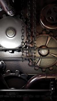 Gears machine steampunk iPhone 5s wallpaper