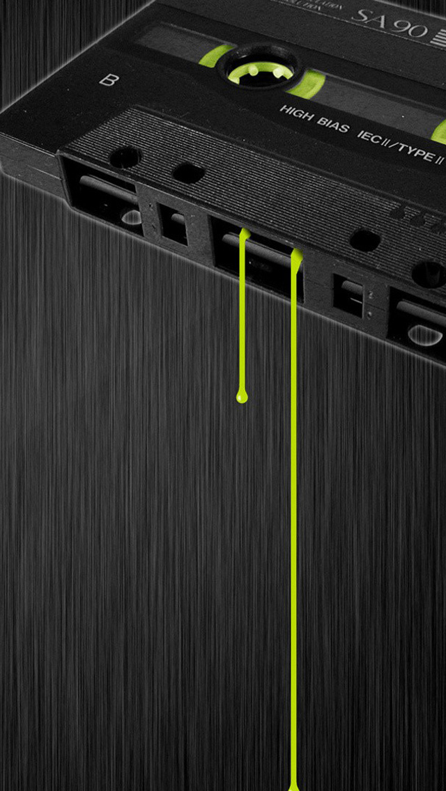 Cassette Music Dark Tape Drips Iphone Wallpapers Free Download