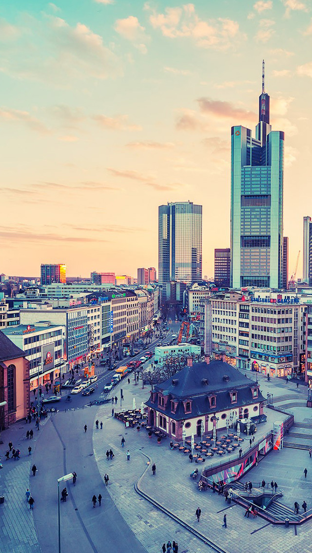Frankfurt Germany cities iPhone wallpaper
