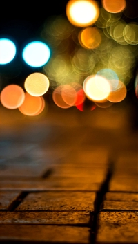 Road bokeh iPhone 5s wallpaper