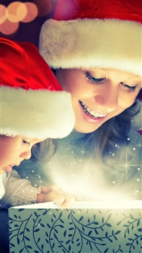 Christmas magic iPhone 5s wallpaper
