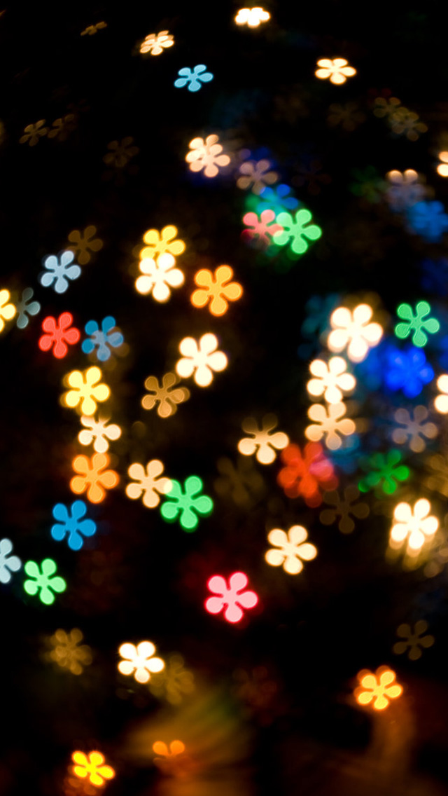 Colored lights iPhone wallpaper