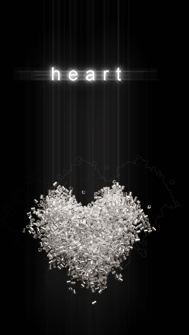 Heart Black Background Iphone Wallpapers Free Download
