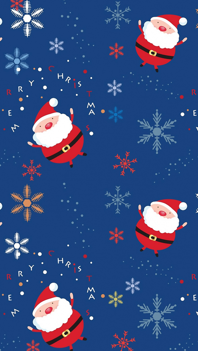 Santa claus pattern iPhone wallpaper