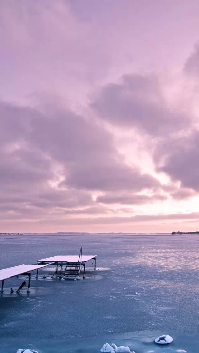 Pink Sky And Sea Iphone Wallpapers Free Download