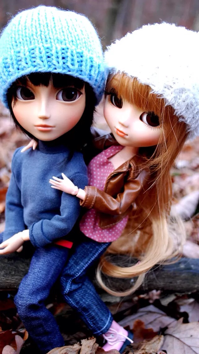 Couple Doll iPhone wallpaper