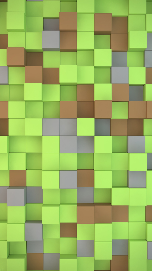 Minecraft Cubes Iphone Wallpapers Free Download