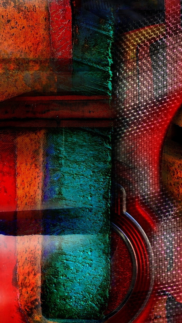 Abstract Grunge Art iPhone wallpaper