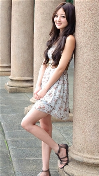 Asian girl iPhone 5s wallpaper