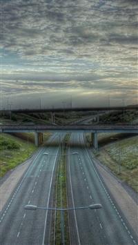 Road Marking Bridge iPhone 5s wallpaper