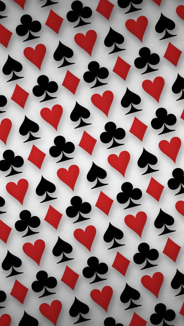 Playing Cards Symbols Digital Art iPhone wallpaper