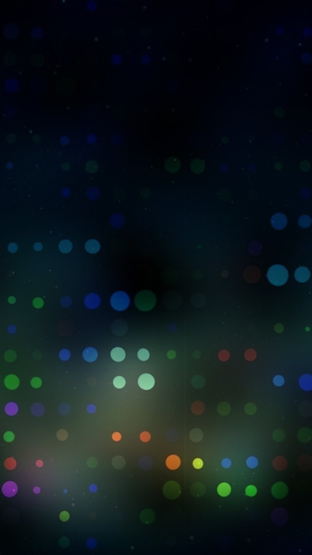 Blurred Dots iPhone wallpaper