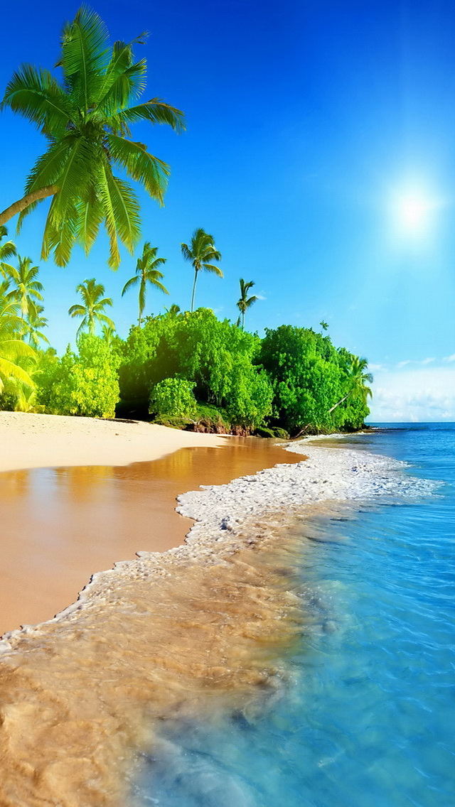 tropical island iphone wallpaper ilikewallpaper com