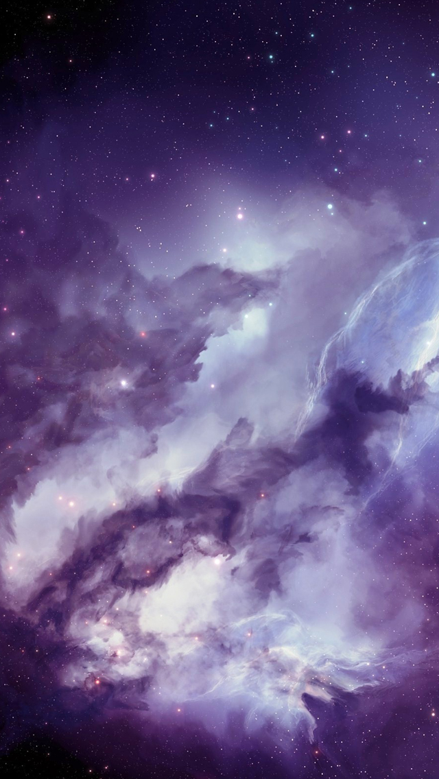 Angel galaxy iPhone wallpaper