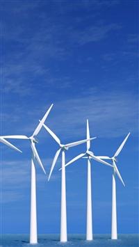 Wind Electric Generator iPhone 5s wallpaper