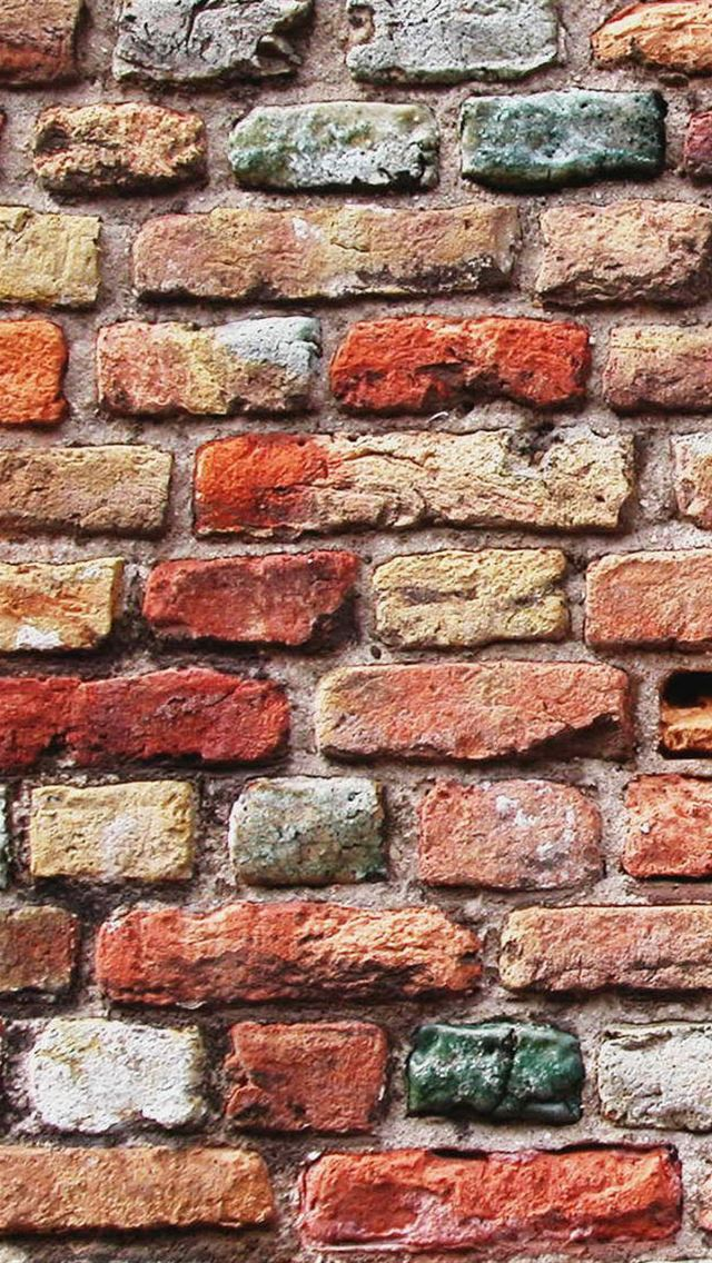 Colorful Brick Wall iPhone wallpaper