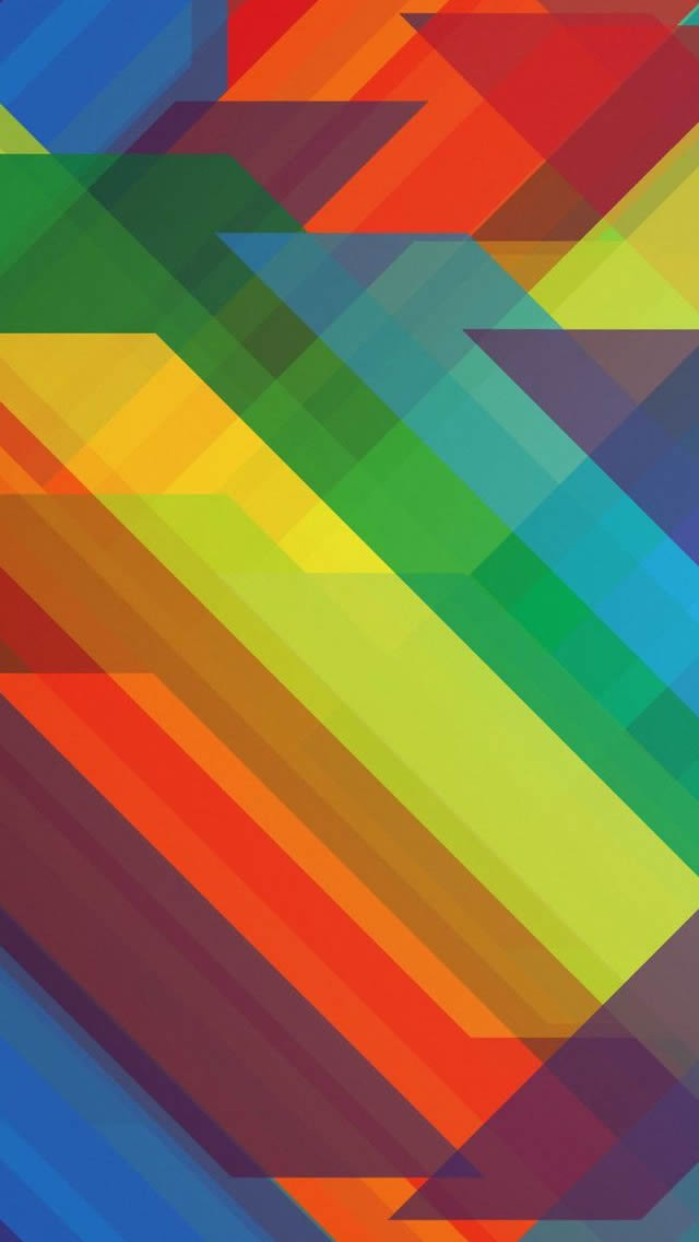 Multicolored Polygons Abstract Iphone Wallpapers Free Download