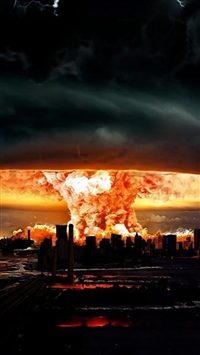 Nuclear Explosion Of Darkness iPhone 5s wallpaper