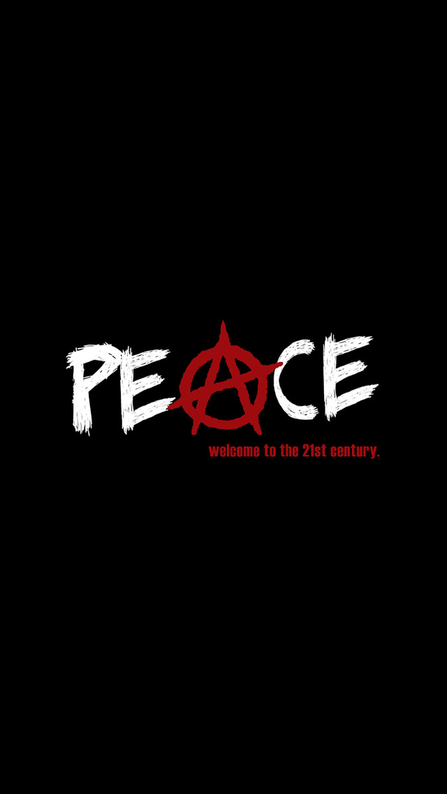 peace 21 century iPhone wallpaper